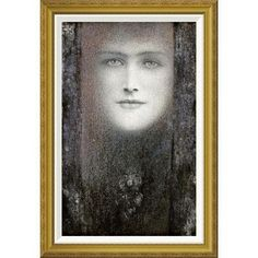 Global Gallery 'The Mask, with a Black Curtain' by Fernand Khnopff Framed Painting Print
