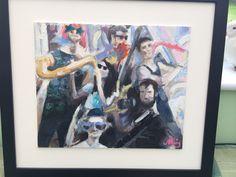 'Glastonbury band' in oil