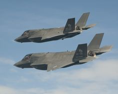 F35B test aircraft in formation - testing handling characteristics