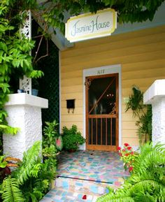Lazy Lane Cottages in Key West  (the guest suite/wedding suite is the best!!). I remember this Key West getaway very fondly, especially the deck area that was lush with tropicals & just off the living room/dining area). Only one block from Duval Street and walking distance to everything from Mallory Square to Southern Most Point.