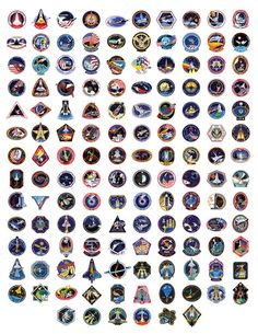 Space Shuttle Badges | All 135 space shuttle mission patches (click to enlarge).