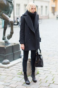 black on black #nyc #streetsyle  http://weardownjacket.blogspot.com/  how pretty with this fashion CAOT! 2014 CANADA GOOSE JACKET discount for you! $169.99