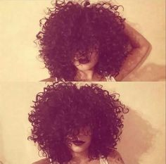 Love this curly afro   Amandadash on ig