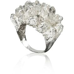 NIZA HUANG JEWELLERY UNDER EARTH COCKTAIL RING - SI ($420) ❤ liked on Polyvore featuring jewelry, rings, silver, cocktail rings and statement rings
