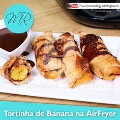 VÍDEO - Tortinha de Banana no Pão de Forma na AirFryer