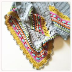 Sunday Shawl - crochet pattern from The Little Bee (photo credit: Heather) https://www.etsy.com/nz/listing/196313873/crochet-shawl-pattern-instant-download