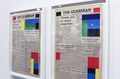 Marine Hugonnier's Newspaper Colourblock considers the role of the image.