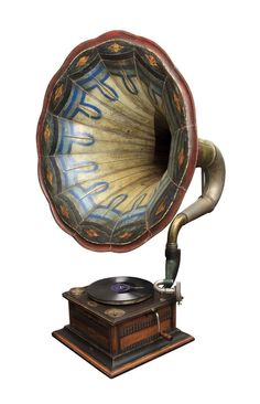 Look at the beautiful colours and design: Gramophone,Retro,Vintage Old Record Player, Record Players, Oldschool, Vintage Design, Vintage Decor, Vintage Art, Vintage Stuff, Objet D'art, Retro Home Decor