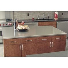 """A-Line by Advance Tabco Island Counter Top Size: 1.5"""" H x 73"""" W x 49"""" D"""