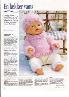 """Photo from album """"Одежда для Baby Born on Yandex. Baby Born Clothes, Girl Doll Clothes, Girl Dolls, Baby Dolls, Knitted Doll Patterns, Knitted Dolls, Knitting Dolls Clothes, Doll Clothes Patterns, American Doll Clothes"""