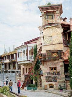 Rezo Gabriadze's old puppet theater in Georgia
