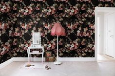 Find the perfect nature wall mural for your project in our wide selection of nature wall mural designs. Free worldwide delivery and wallpaper paste in Wallpaper Decor, Rose Wallpaper, Colorful Wallpaper, Briar Rose, Decoration, Art Decor, Passion Fruit Flower, Scandinavian Wallpaper, Vintage Floral Wallpapers