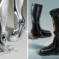 Futuristic Boots, Really freaking awesome futuristic shoes. I LOVE the black!!!!!