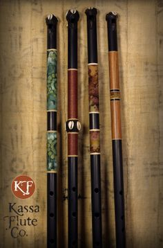 New custom-made Fulani-stlye flutes made by Dave Kobrenski, at kassaflutes.com