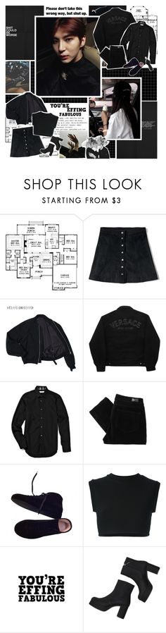 """""""[Short Story.] There is a crazy person inside of me ... ♪"""" by followmiiin ❤ liked on Polyvore featuring GET LOST, Abercrombie & Fitch, Versace Jeans Couture, Burberry, Paige Denim, Maison Margiela, adidas Originals, Monki and Alexander McQueen"""