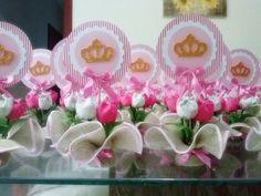 Centro de mesa Coroa de Princesa   Mimos da Mô   Elo7