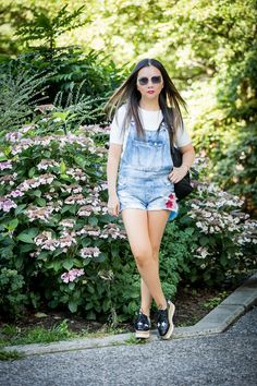 Valentina and Aveline: Summer to Fall transition - Overall Shorts And Cropped…