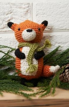 Amigurumi Fox Ornament ~ Free PDF Pattern