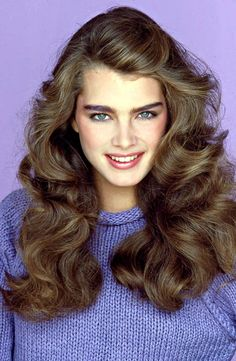 Brooke Shields with her perfect 80s bushy brows...I had them too and now sadly, I hardly have any brows from overplucking!!