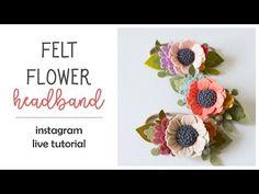 Felt Flower Tutorial (easy!) - A How-To DIY Tutorial on Felt Flower Making - YouTube