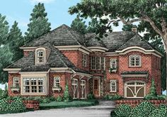 Eplans Cottage House Plan - Four Bedroom Cottage - 3697 Square Feet and 4 Bedrooms from Eplans - House Plan Code ~ think I finally found my family home! Cottage House Designs, Cottage Homes, French Country House Plans, French Cottage, Cottage Chic, Cottage Floor Plans, House Floor Plans, Cottage Plan, Long House