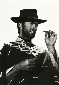 Clint Eastwood in The Good, the Bad and the Ugly directed by Sergio Leone, 1966