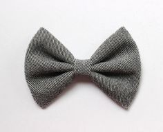 4.5 gray fabric hair bow clip gray hairbow gray by TwinkleMingle