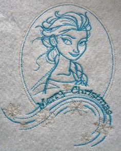 Elsa sketch 8 machine embroidery design