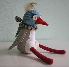 Mimpies-crochet and felt bird