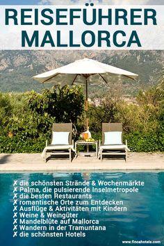 Urlaub auf Mallorca - mit unserem Reiseführer findet die besten Restaurants, die schönsten Strände, die interessantesten Wochenmärkte, Ausflüge für die ganze Familie, die reizvollsten Hotels und viele Tipps rund um einen erholsamen Urlaub auf Mallorca. #urlaub #mallorca #reisetipps #reisen #travel