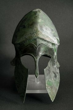 Corinthian bronze helmet from the Peloponnese Late 6th century BC..