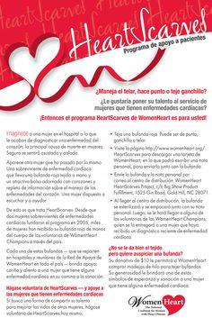 ¡La descripción de WomenHeart HeartScarves en Español!