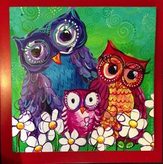 Owl painting by my friend Katie