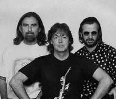 George Harrison, Paul McCartney, and Ringo Starr <3 by Linda McCartney