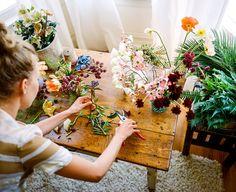 "ingelnook:  ""making bouquets @WeHeartIt  """