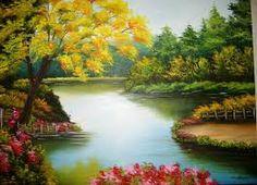 Resultado de imagem para pintura em tela paisagens