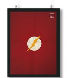 Pôster/Quadro minimalista Flash