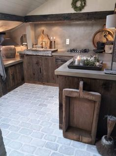 Home Interior Classic Belgian Style, Home Remodeling Diy, Rustic Kitchen, Home Kitchens, Beautiful Homes, Kitchen Design, House Design, Outdoor Decor, Home Decor