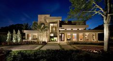 Modern Flat Roof Home Designs. Top contemporary home designs with a flat roof. Modern flat roof homes. Round Pool, Rectangular Pool, Flat Roof Design, Flat Roof House, Palmer House, Small Modern Home, Modern Windows, Windows And Doors, Huge Windows