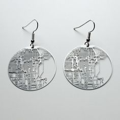 My kind of town!    Aminimal Studios  Chicago earrings now featured on Fab.