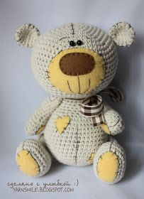 ОПИСАНИЕ МИШКИ НА РУССКОМ И АНГЛИЙСКОМ ЯЗЫКАХ - В МОЁМ МАГАЗИНЕ:  https://www.etsy.com/shop/crochetmaniaq   PATTERN OF BEAR IN EGLISH AND ...