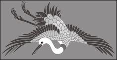 Japanese Crane stencils, stensils and stencles