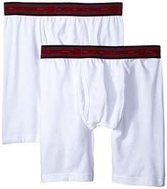 8827049d9eae Dickies Men's 2 Pack Cotton Performance White Long Leg Boxer Brief, White,  Small. White BoxersImage LinkUnderwearLegsCottonBoxer ...