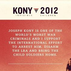 Support Kony.