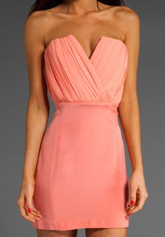 NAVEN Bombshell with Shearing Dress in Peach at Revolve Clothing - Free Shipping!