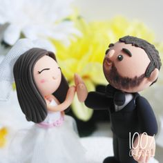 Custom Wedding Cake Topper- High-Five Couple on Etsy, 27 Ft Wedding Doll, Diy Wedding, Wedding Cakes, Wedding 2015, Handmade Wedding, Wedding Ideas, Fancy Cakes, Cute Cakes, Cake Templates