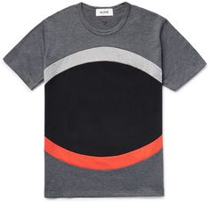 Aloye Panelled Colour-Block Cotton-Jersey T-Shirt Fashion Advice, Fashion News, Mens Fashion, Colour Block, Color Blocking, Independent Clothing, Men's Wardrobe, New Shop, Mens Tees