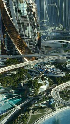 Future green city.