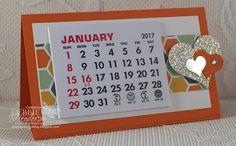Debbie's Designs: Craft Fair Desktop Easel Calendars!