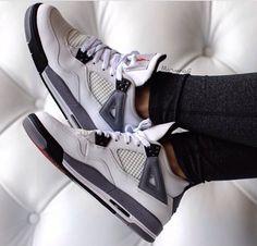 Jordan 4s white cement